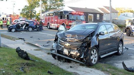 Suffolk County police said the fatal crash occurred