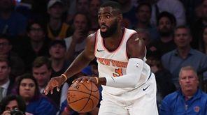New York Knicks guard Tim Hardaway Jr. steals