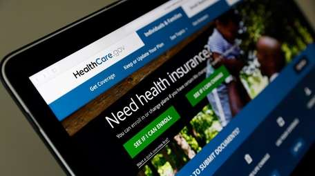 The Healthcare.gov website is seen on a laptop