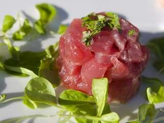 The tuna seviche is served at Chachama Grill,
