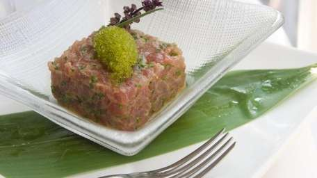 The tuna tartare is served at the Stone