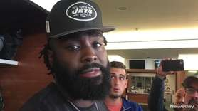 Jets middle linebacker Demario Davis, who attended the