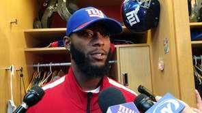 Giants cornerback Dominique Rodgers-Cromartie at the team's training