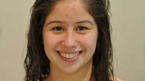 Kiani Morisi, Massapequa freshman swimmer on Tuesday, Oct.