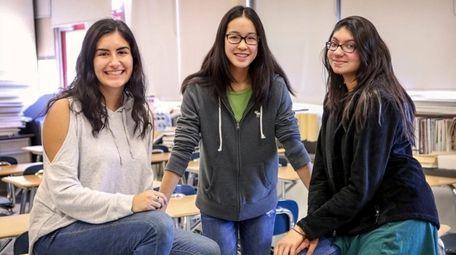 From left, Jillian Parker, 16, a junior at