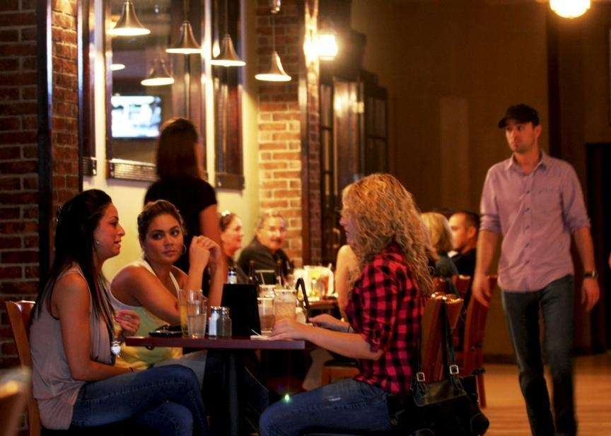 Diners at Public House 49 in Patchogue (Sept.