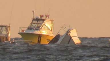 The Coast Guard and Suffolk police rescued two