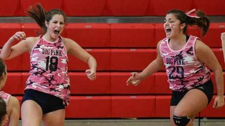 South Side's Caroline Lanzillotta, left, and Jackie Wilkins