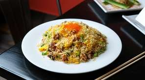 Roasted eel and smelt roe fried rice at