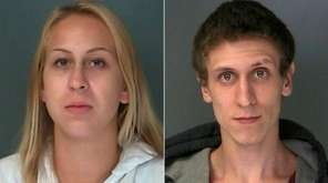Madison Munoz, 20, left, of Shirley, faces charges