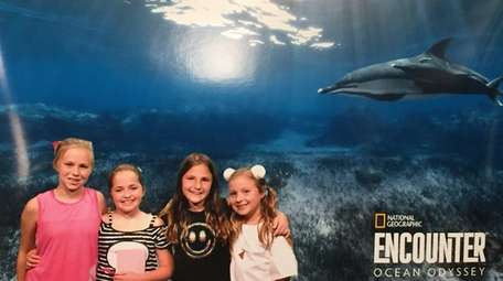 Kidsday reporters, from left, Emily Wyman, Grace Oliveri,