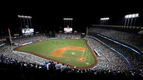 A general view of Dodger Stadium on Oct. 15, 2017