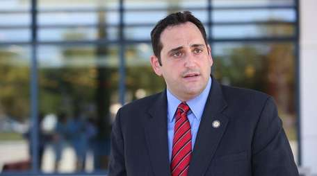New York State Assemblyman Chad Lupinacci speaks at