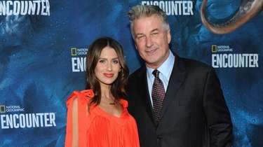 Hilaria and Alec Baldwin in Manhattan on Oct.