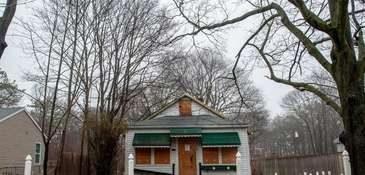 This abandoned house on Bellport Avenue in North