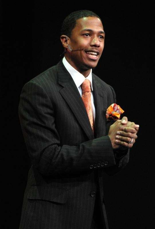 Nick Cannon speaks during the Nickelodeon 2009 Upfront