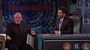 """Billy Joel stopped by """"Jimmy Kimmel Live"""" Thursday,"""