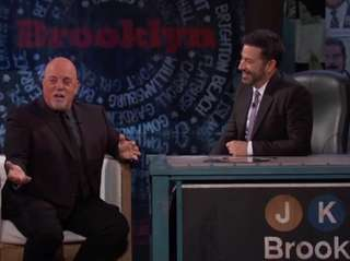 "Billy Joel stopped by ""Jimmy Kimmel Live"" Thursday,"