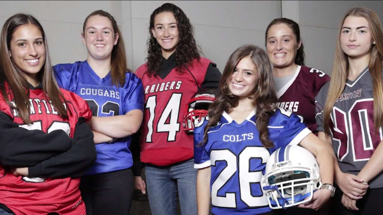 Six girls are playing high school football on