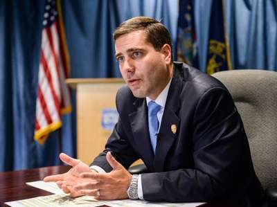 Suffolk Police Commissioner Tim Sini speaks about local