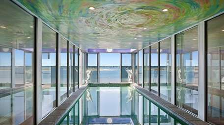 The Westhampton Dunes house features an indoor saltwater