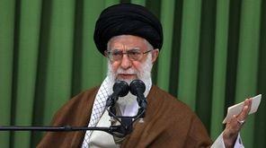 Iranian Supreme Leader Ayatollah Ali Khamenei delivers remarks