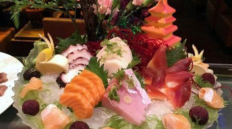A sashimi platter at Hokkaido Sushi, which is
