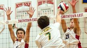 Smithtown East's Matthew Wertheim (4, left), and Kyle
