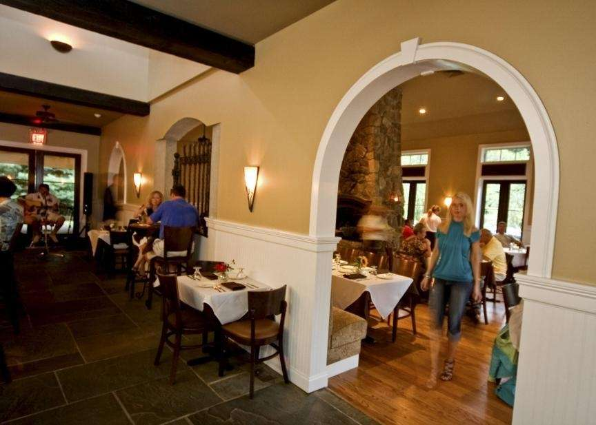 The interior at Amarelle, a restaurant in Wading