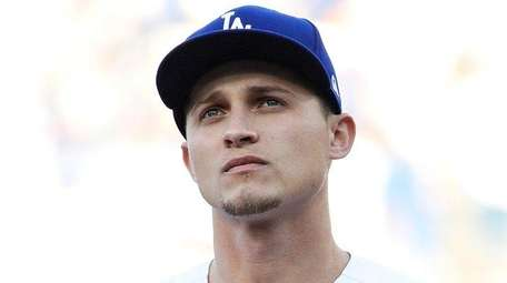 Corey Seager of the Los Angeles Dodgers before