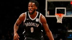 DeMarre Carroll of the Brooklyn Nets in the first