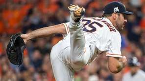 Houston Astros starting pitcher Justin Verlander in ALCS game 6