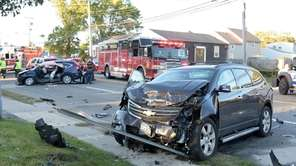 West Babylon firefighters respond to a fatal crash