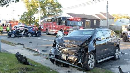 West Babylon firefighters respond to a fatal crash
