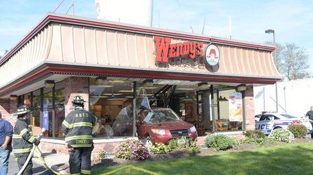 A vehicle crashed into Wendy's restaurant on Montauk