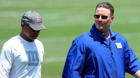 Ben McAdoo looks against the Oakland Raiders at