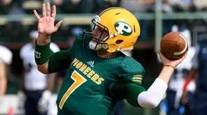 LIU Post  quarterback Yianni Gavalas  was 14-for-16 for