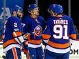 Anders Lee of the New York Islanders celebrates