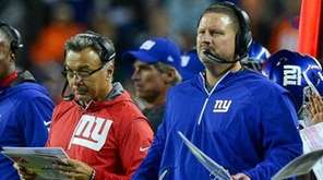 Giants coaches, including head coach Ben McAdoo and