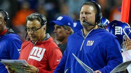 Giants coaches, including head coach Ben McAdoo and