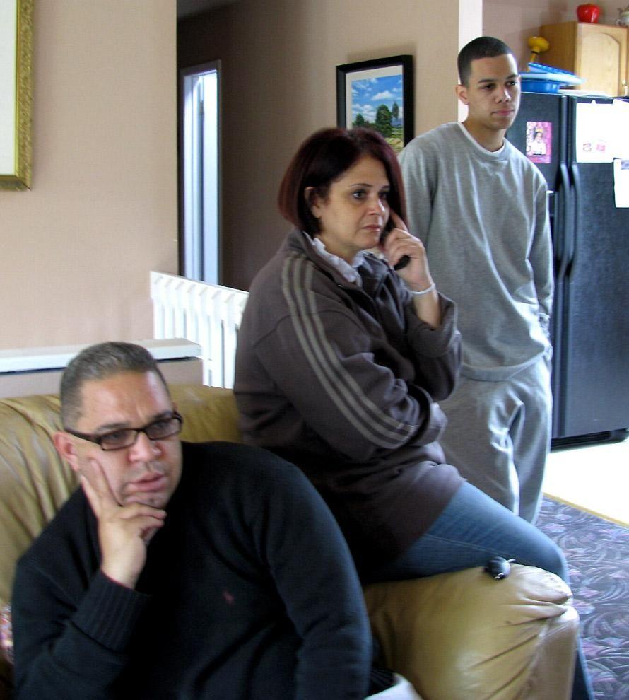 Ramiro Taveras, left, Giselle Taveras and Kevin Taveras,