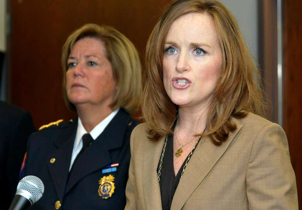 Nassau District Attorney Kathleen Rice announces that a