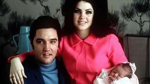 In February 1968, Elvis and Priscilla Presley posed
