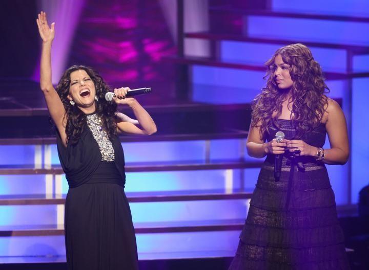 Martina McBride and Jordin Sparks perform onstage during