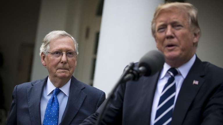 Senate Majority Leader Mitch McConnell, and President Donald