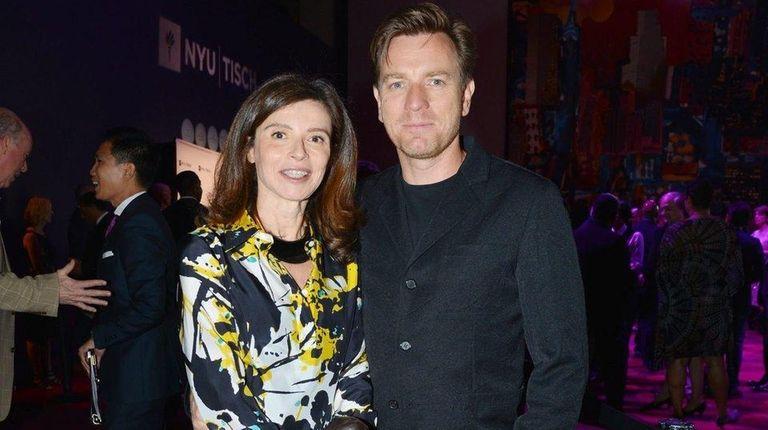 Eve Mavrakis and husband Ewan McGregor, pictured at