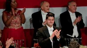 Speaker of the House Paul Ryan applauds as
