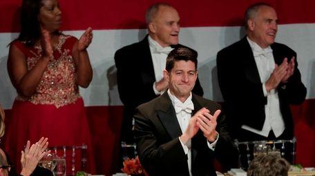 Speaker of the House Paul Ryan applauds as
