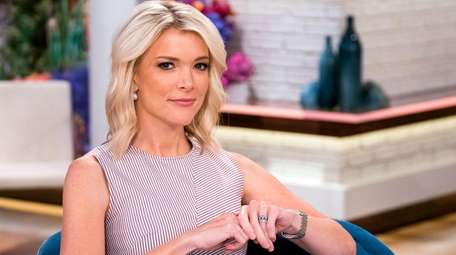 Megyn Kelly on the set of her show