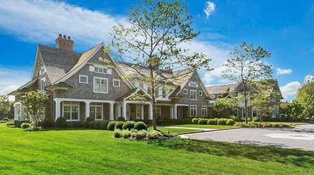 The Southampton home contains multiple fireplaces, a large